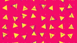 Abstract 80s triangle background animation