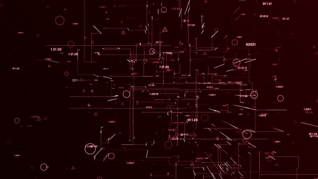 4k abstract and futuristic network concept (loopable) - diagram stock videos & royalty-free footage