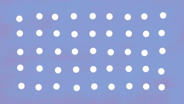 vídeos y material grabado en eventos de stock de fondo animado abstracto de puntos - con lunares