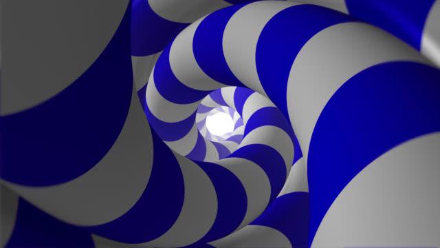 vidéos et rushes de tunnel hypnotique animé abstrait (loopable) - hypnose