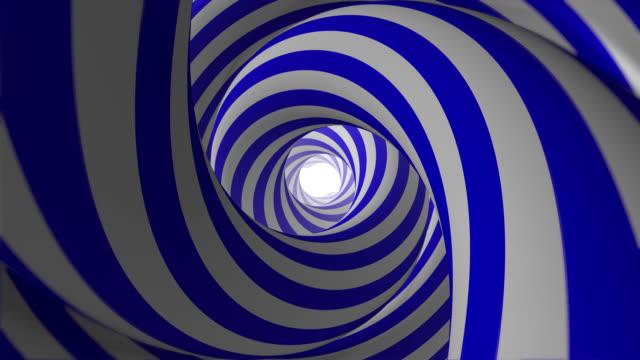 抽象的なアニメーション催眠トンネル(ループ可能) - 目が回る点の映像素材/bロール