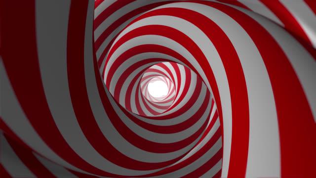 vídeos de stock, filmes e b-roll de túnel hipnótico de animação abstrata (loopable) - buraco