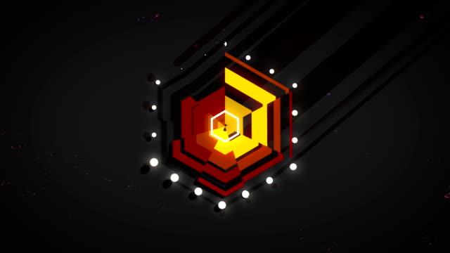Abstrakte animierte Polygon-Hintergrund