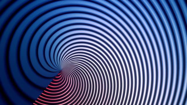vídeos y material grabado en eventos de stock de abstracta fondo de animación con líneas onduladas de color. render 3d - geometría
