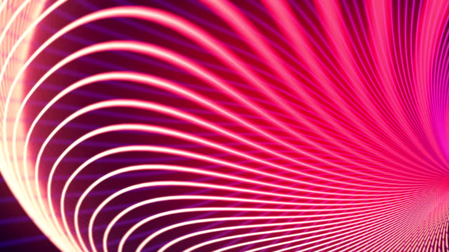 abstract animation background with wavy color lines. 3d rendering - dark stock videos & royalty-free footage