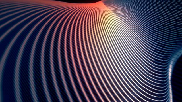 sfondo dell'animazione astratta con linee di colore ondulate. rendering 3d - curvo video stock e b–roll
