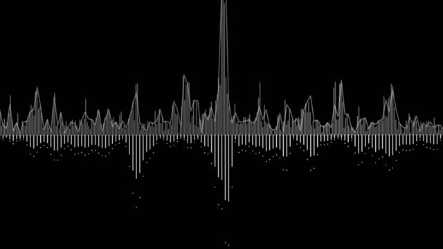 abstract animation of digital audio histogram - rocking stock videos & royalty-free footage
