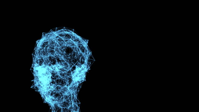 abstract animation of digital head - science fiction film stock videos & royalty-free footage