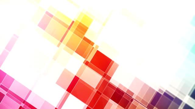 vídeos y material grabado en eventos de stock de animación abstracta del bucle de formas - mosaico