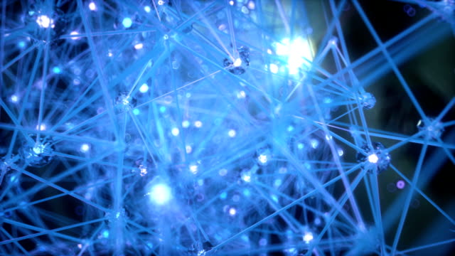 abstract animation of the neuronal network - quantum computing stock videos and b-roll footage