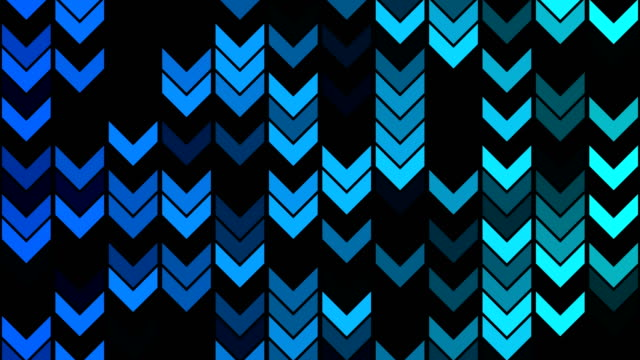 abstract arrow pattern background / loopable - blinking arrow stock videos & royalty-free footage