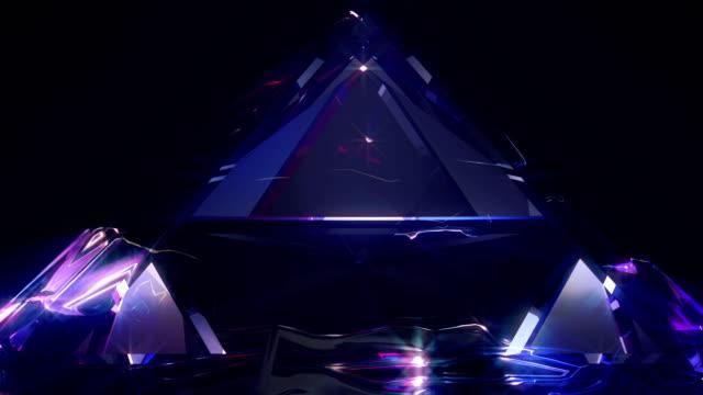 抽象的な背景 4 k - ピラミッド点の映像素材/bロール