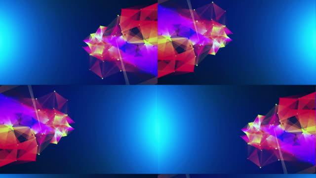 vídeos de stock, filmes e b-roll de fundo abstrato de luzes coloridas - cor de cabelo