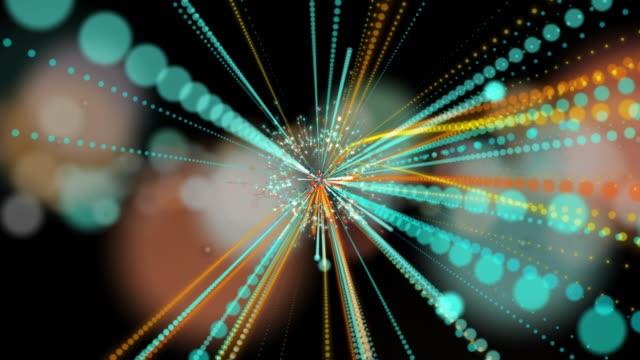 4K abstracte achtergrond voor animatie lus of lijnen verbinding en stippen, digitale elementen concept