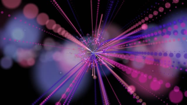 stockvideo's en b-roll-footage met 4k abstracte achtergrond voor animatie lus of lijnen verbinding en stippen, digitale elementen concept - loop elementen