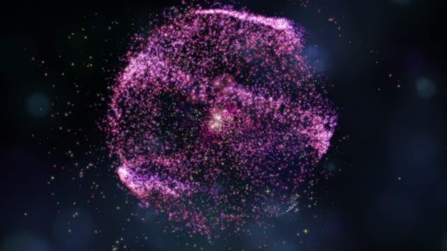 vídeos de stock, filmes e b-roll de fundo abstrato 4k para o espaço da animação ou da nebulosa, conceito digital dos elementos - loopable moving image