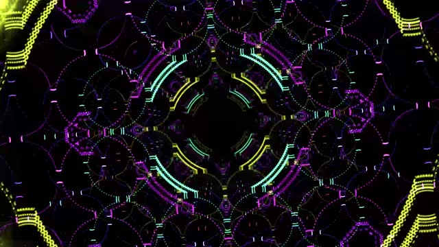abstract background. fractal or kaleidoscope style abstract background, illusion, psychedelic concept idea, selective focus, noise effect - 1 minute or greater stock videos & royalty-free footage