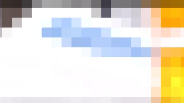 vídeos y material grabado en eventos de stock de resumen de antecedentes coloridos tonos de marrón, amarillo y turquesa. - mosaico
