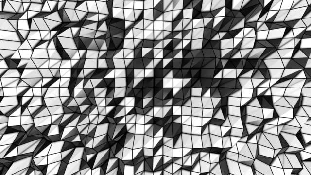 抽象的な背景ループ 4 種類のブラック&白色(hd ) - グレースケール点の映像素材/bロール