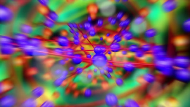 abstract background of an atomic structure - atomic bomb stock videos & royalty-free footage