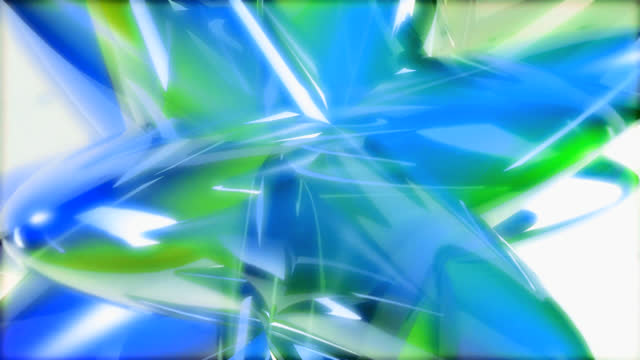 abstract background of blue and green structures moving - other stock videos & royalty-free footage