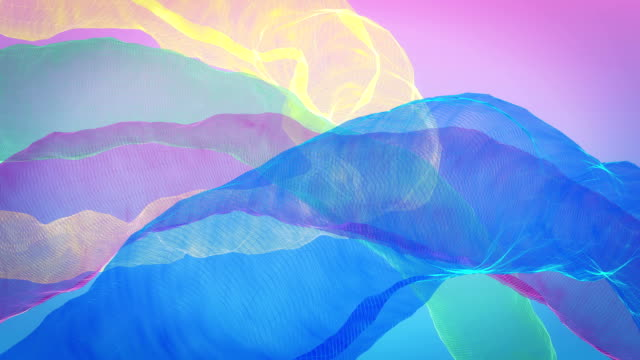 abstract background of colorful curved lines - simplicity stock videos & royalty-free footage