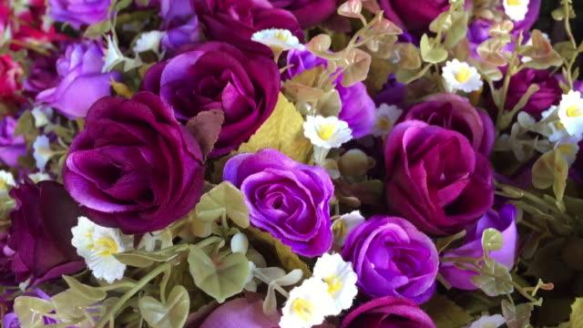 カラフルなバラの抽象的な背景 - 花束点の映像素材/bロール