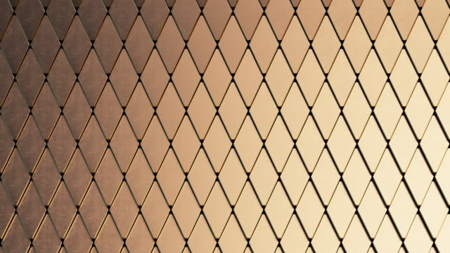 abstract background of gold and black scales - metal stock videos & royalty-free footage