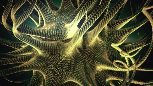 abstract background of golden multi-tentacle creature - tentacle stock videos & royalty-free footage