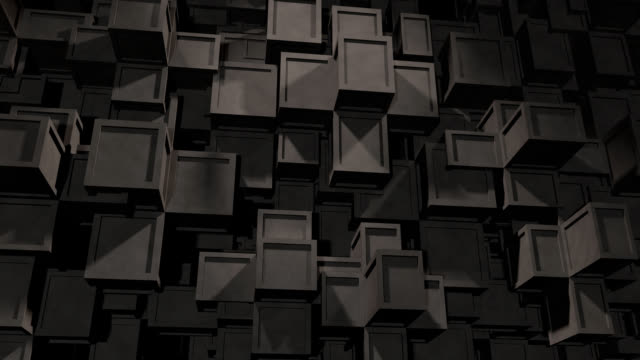 Abstract Background of moving concrete Cubes