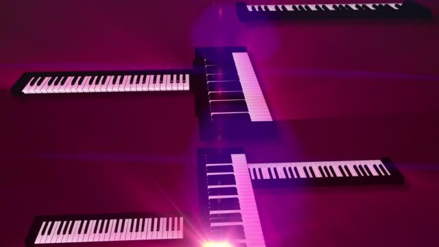 vídeos y material grabado en eventos de stock de abstract background of music keyboards in motion - elemento de diseño