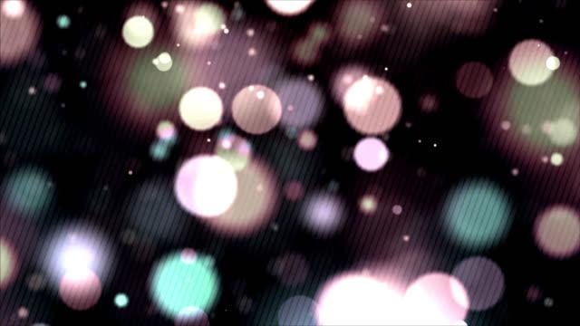 パステル色の円形ライトの抽象的な背景 - パステルカラー点の映像素材/bロール