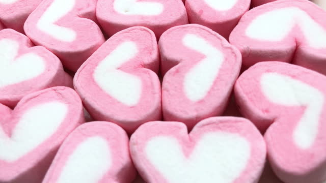 abstract background of pink marshmallow ,heart shape - ornate stock videos & royalty-free footage