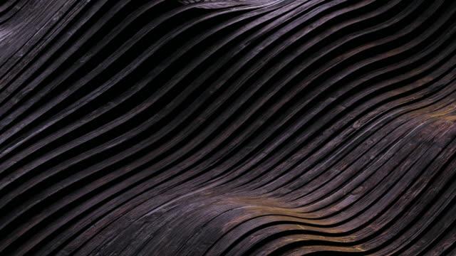 abstrakter hintergrund des dunklen parkettbodens winkend - in bodenhöhe stock-videos und b-roll-filmmaterial