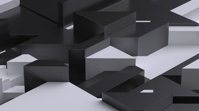 vídeos y material grabado en eventos de stock de fondo abstracto de formas geométricas tridimensionales que se elevan y caen - marmolizado