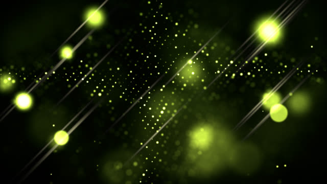 abstract background of yellow lights in outer space - designelement stock-videos und b-roll-filmmaterial