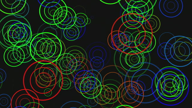 abstract background on multicolor concentric circular pulses  - concentric stock videos and b-roll footage