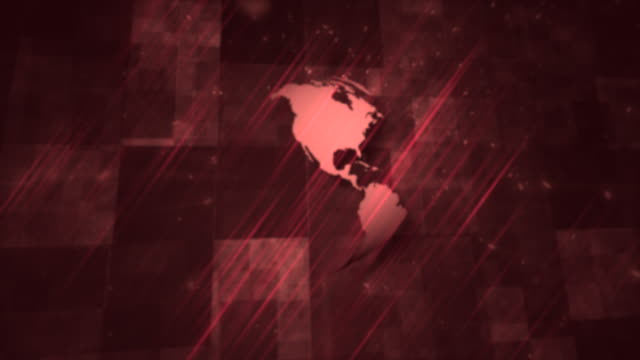 abstract background planet earth with red slanted lights - newsreel stock videos & royalty-free footage