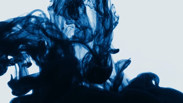 abstract background video with ink curls and swirls in different forms - music video stock videos & royalty-free footage