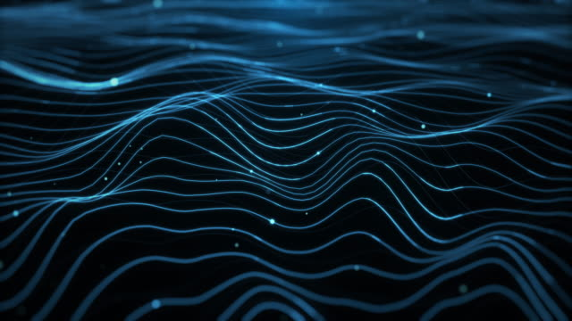 abstract background - waves - wave pattern stock videos & royalty-free footage