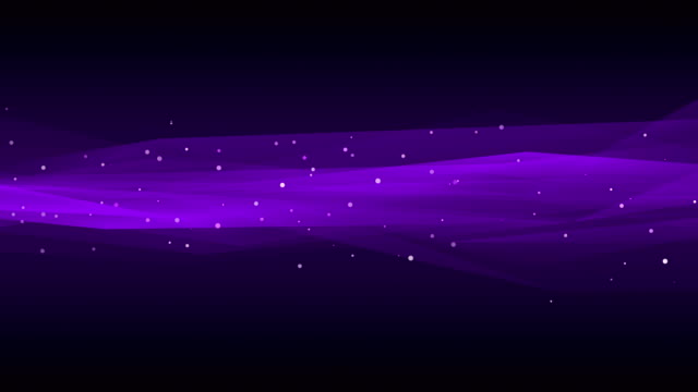 vídeos de stock e filmes b-roll de abstract background with animation of moving wave. soft loopable waves in slow motion. loopable - purple