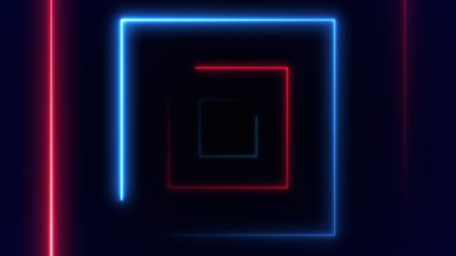 abstract background with fiber optic line glowing squares vj light. (loopable) - design element stock videos & royalty-free footage