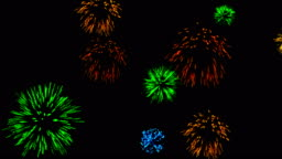 Abstract background with fireworks. Cg animation