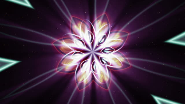 Abstract background with luminous fractal