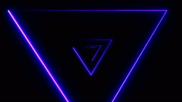 Abstract background with Neon Triangulars