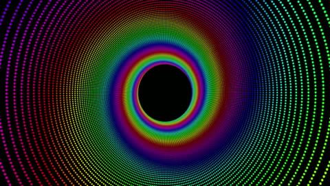 vidéos et rushes de abstrait avec des cercles de couleur arc-en-ciel - but égalisateur