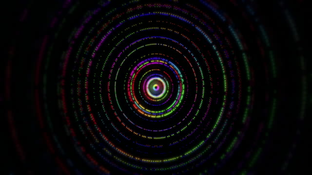 abstract background with rainbow color circles - spirale ricciolo video stock e b–roll