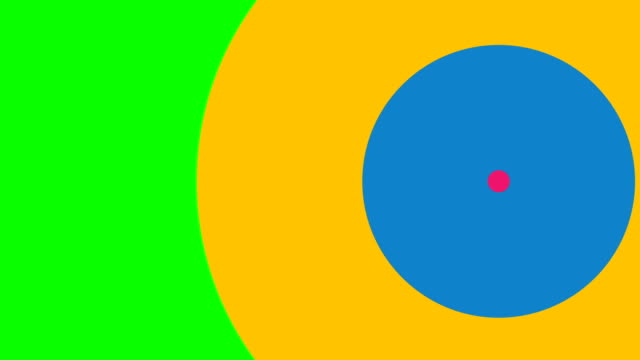 abstract background with retro circles from colorful  texture, mask of changing frame. looping. chroma key, 4k resolution. - two dimensional shape stock videos & royalty-free footage