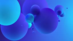 Abstract Balls. Neon Blue