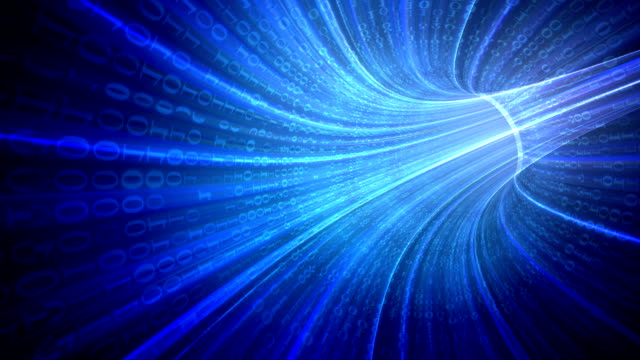 abstract binary tunnel - electronics industry stock videos & royalty-free footage